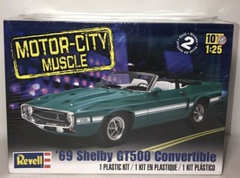 Revell 85-4025 1969 FORD Mustang SHELBY GT-500 CONVERTIBLE KIT 1/25 McM FS - $26.73