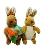 Stuffins Peter Cottontail & Friend Plush Bunny Rabbits Carrot Fairy Tale... - $14.99