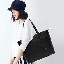 15.6 Inch Briefcase for Women, Laptop Tote Bag Bottom with 4 Metal Feet, Multi F image 2