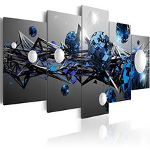 Modern Blue Canvas Print Wall Art Contemporary Painting Abstract Artwork... - $54.08