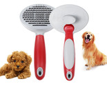 Professional Pet Grooming Comb Dog Cat Hair Removal Stainless Steel Massage Brus