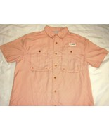 Magellan Outdoors Fish Gear Shirt S Short Sleeve Button Front Vented Ang... - $17.47