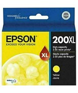 NEW Epson 200XL Yellow ink Cartridge T200XL420 GENUINE EXP 01/2023 - $19.85