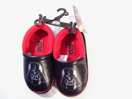 NEW BOY'S STAR WARS DARTH VADER SLIPPERS SZ MEDIUM 7-8 OR LARGE 9-10 YOU... - $10.40