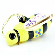 Handcrafted Painted Ceramic Bumblebee Bee Confetti Ornament Made in Peru image 2