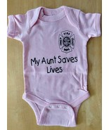 MY AUNT SAVES LIVES  Infant One Piece with Maltese Cross - OVERSTOCK SALE - $8.99