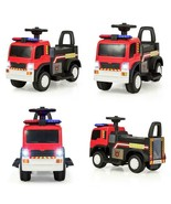 KIDS 6V BATTERY POWERED ELECTRIC RIDE ON FIRE TRUCK - $102.69
