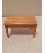 "Vintage Doll House Miniature Furniture Blonde Kitchen Table 4"" x 2 1/2"" ... - $9.97"