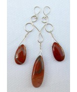 "Sterling Silver ""Candelabra"" Pendant with Red Jasper Teardrops - $50.00"