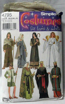 Simplicity Pattern Nativity Christmas Costumes Angel Shepherd 4795 A Teen Adult - $10.00
