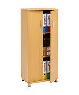 Lockable Office Cupboard Furniture Storage Organize Cabinet With 3 Shelv... - $146.07