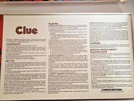 Clue the Board Game Classic Detective by Parker Brothers 1986 Vintage.. Complete image 5