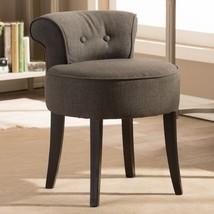 Millani Gray Linen Modern Lounge Stool - $154.44