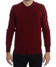 Dolce & Gabbana Red Cashmere Crew-neck Pullover Sweater 2055756 - $333.62