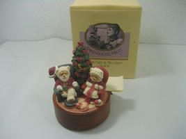 Vintage Applause Raikes Collectibles Santa Clause & Mrs. Clause Musical Box - $23.33