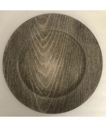 "Silver Faux Wood Look 13"" Charger Plates-Set of 2-Made of Thick Plastic-... - $11.64"