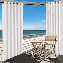 TWOPAGES White Outdoor Curtain Waterproof Rustproof Grommet Drape 220 W ... - $220.31