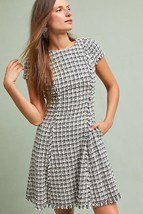 New Anthropologie Gracie Tweed Dress by Eliza J BLACK/WHITE Size 4 - $57.42