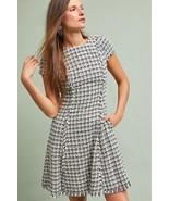 New Anthropologie Gracie Tweed Dress by Eliza J BLACK/WHITE Size 4 - $57.42