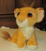 "LION KING Plush PURRING Baby SIMBA stuffed doll sit 9"", Disney 1993 Matt... - $49.99"