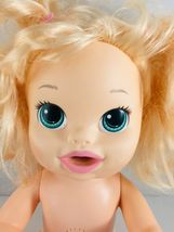 Baby Alive 2014 Bilingual Blonde Blue Eyes Interactive Non Working Pees Poops image 3