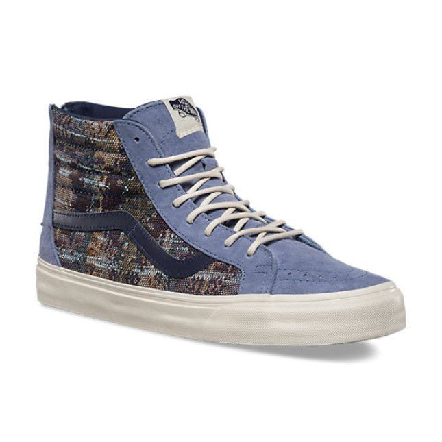Primary image for VANS Sk8 Hi Reissue Zip (Suede Italian Weave) Infinity Blue Skate MEN'S 13