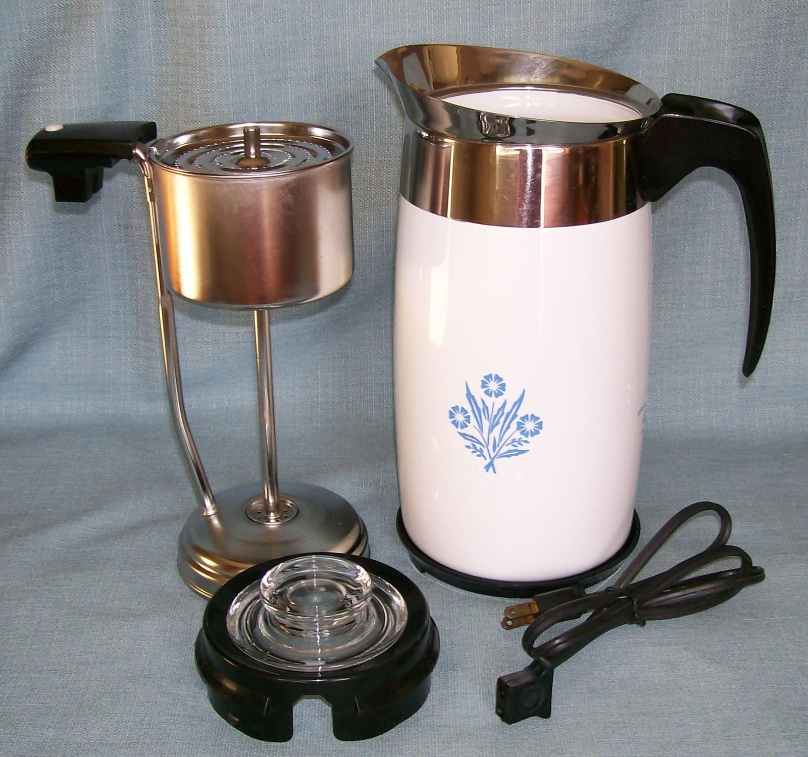 Corning Ware BLUE CORNFLOWER Electric Coffee Pot/Percolator 10 cup P-80-EP EUVC image 2