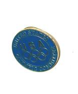 USA Stati Uniti Olimpici Committee Anelli Rotondo Dritto dietro Spilla d... - $9.89