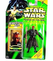 STAR WARS CARDED DARTH MAUL(FINAL DUEL)WITH JEDI FORCE FILE,COLLECTOR'S ... - $24.50
