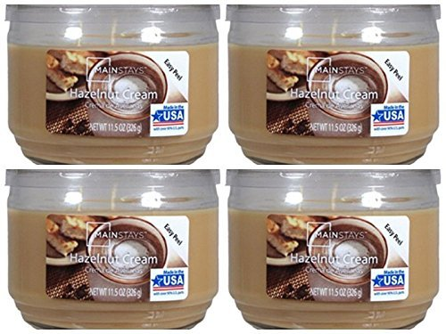 Mainstays 11.5oz Scented Candle, Hazelnut Cream 4-pack - $43.07