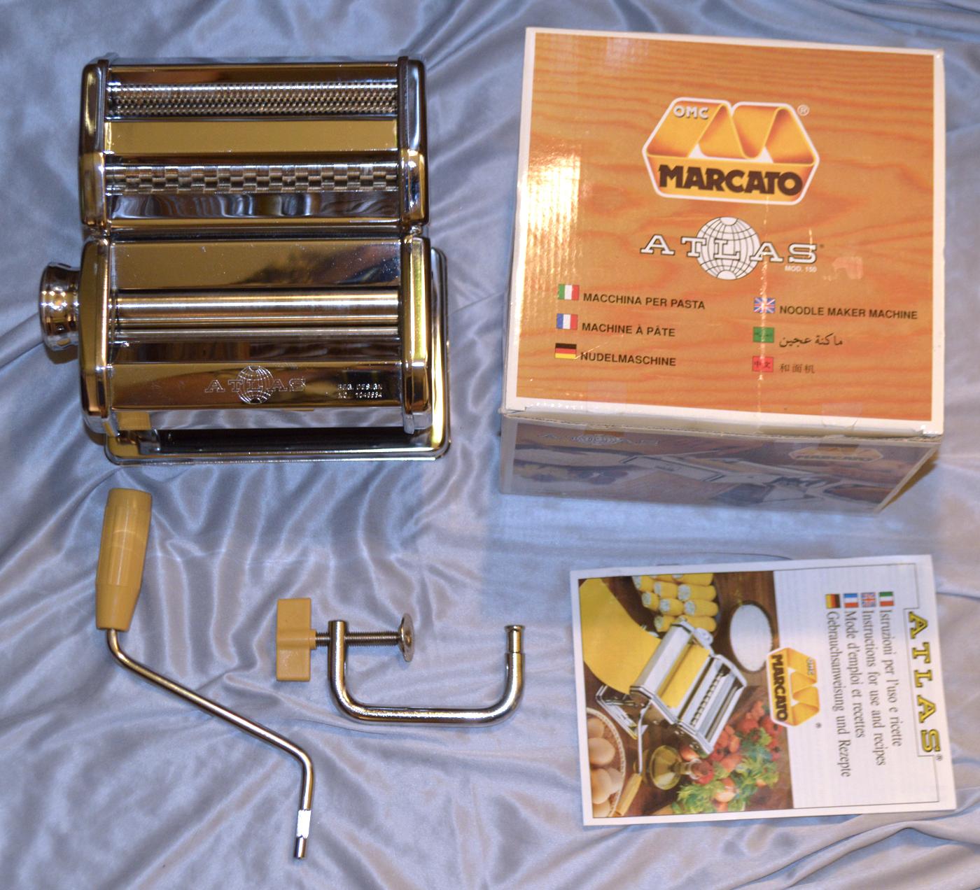 MARCATO Atlas 150 Color home-made Machine à pâtes Lasagnes Maker Aluminium