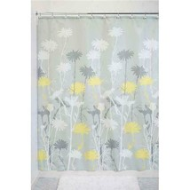 "Interdesign Daizy Fabric Shower Curtain, Standard 72"" X 72"", Gray/Yellow - $36.99"
