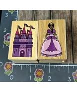 Melissa and Doug Rubber Stamps Princess Castle Set Lot of 2 Wood #E108 - $6.92