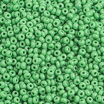 10/0 Op. Medium Green Czech Seed Beads 40 grams - $3.00