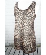 H&M Basic  Long Tank Top Leopard Print Tissue/Thin Racerback Womens Size... - $27.56