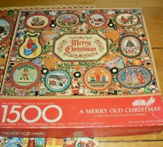 Vintage Springbok Jigsaw Puzzle 1500 Pieces A Merry Old Christmas 1 Pc M... - $24.74