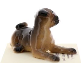 Hagen-Renaker Miniature Ceramic Dog Figurine Pug Fawn Mama Sitting and  Baby Pup image 8