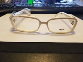 New Authentic Fendi F880 108 White 54-14-135 Flex Hinges w/CASE Authentic - $39.60