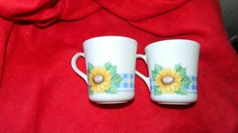 CORELLE SUNSATIONS COFFEE CUPS x 2 GENTLY USED CONDITION FREE USA SHIPPING - $14.01