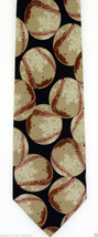 New Baseball Pitch Mens Necktie Player Coach Team Gift Fan Sports Black ... - $15.79