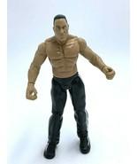 WWE Titan Tron Live The Rock Action Figure Red White Stripe Pants 1999 J... - $12.99