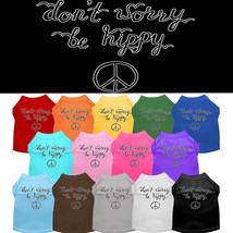 Mirage Be Hippy Screen Print Dog Shirts Screen Print Dog Shirts - $20.00