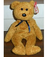 Fuzz Bear Original Beanie Baby Born July 23 1998 Ty With Tags - $0.99