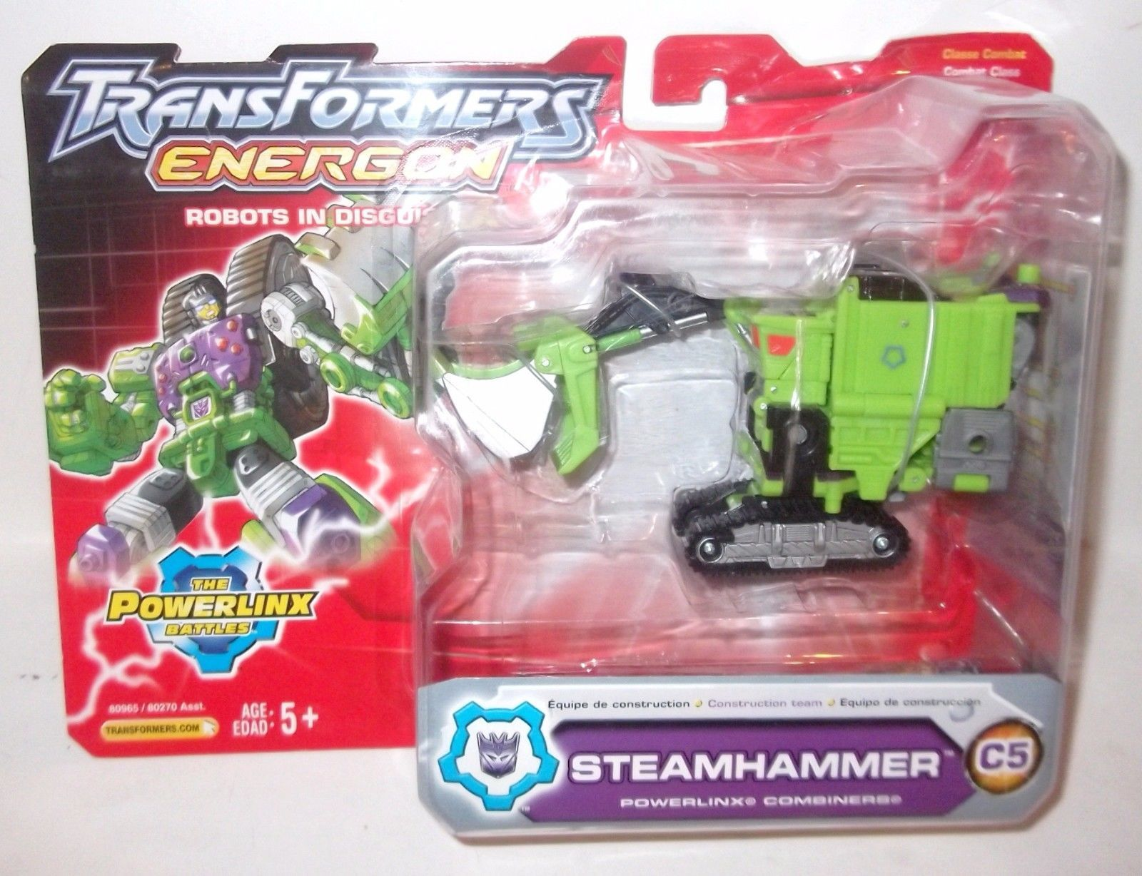 Transformers Energon STEAMHAMMER DELUXE Hasbro figure MOC sealed loose or carded image 2