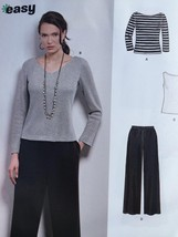 b29c2418ab55a6 New Look Sewing Pattern 6402 Ladies Misses Tops Pants Size XS-XL New -   14.53