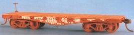 Funaro F&C HO PRR F22 Heavy Duty 30' flatcar ,K brake 2 cars per Kit 7010 image 2