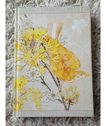 Pretty Yellow Bird & Silver Lined Day Journal Diary Agenda Planner - $12.99