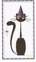 Mister Halloween Meow cat cross stitch chart Alessandra Adelaide Needlework - $15.30