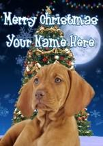 Vizsla Dog Merry Christmas Personalised Greeting Card Xmas codeTM232 - $3.89
