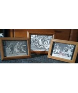 3 NFL Memorable Moments Framed Pictures, Buddy Parker, Bobby Layne, Carl... - $19.80
